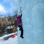 アイスクライミングに挑戦 @岩根山荘アイスツリー